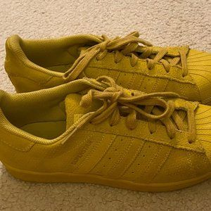 Adidas Superstar YELLOW SUEDE SNEAKERS M 6.5 W 8.5